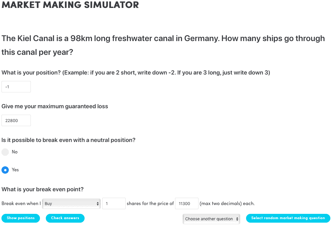 Market Making Simulator